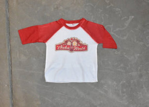 Toddler Nuka-World Souvenir Shirt! Kids NukaWorld 3/4 Length Red T-Shirt Baby Cosplay Long Sleeve