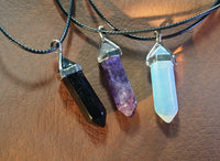 Skyrim Soul Gems Necklace Natural Stone Crystal Pendant Opalite Amethyst Onyx Jewelry Cosplay