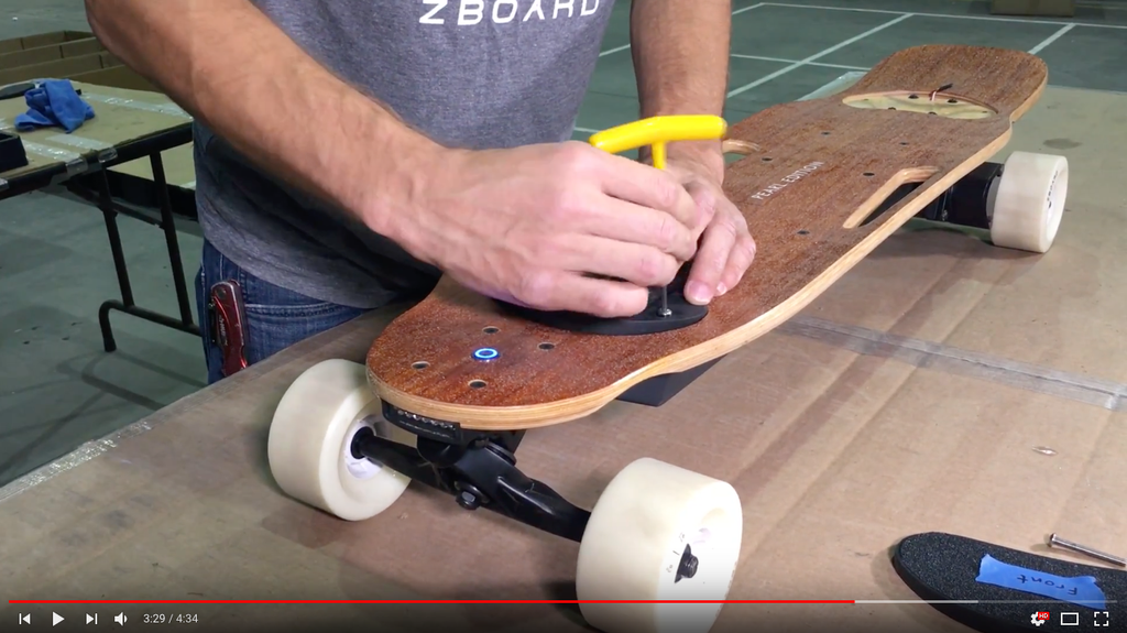 electric skateboard video