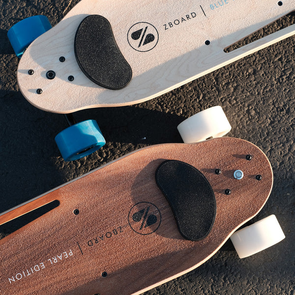 electric skateboard in line