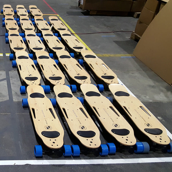 electric skateboard production