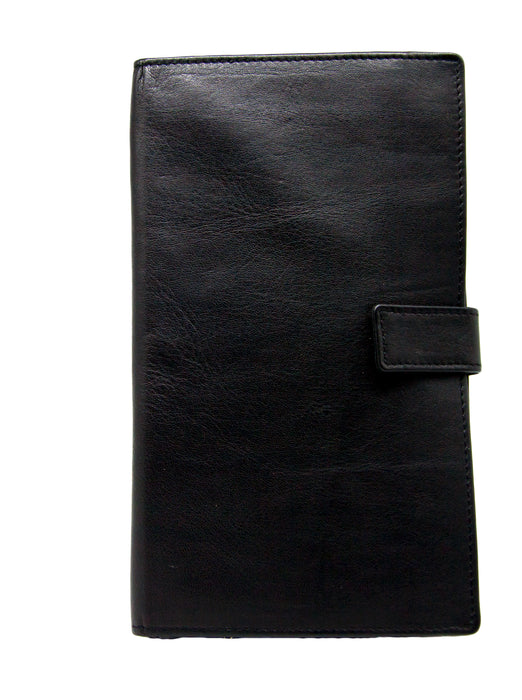Women's Leather Travel Wallet with Tab Closure
