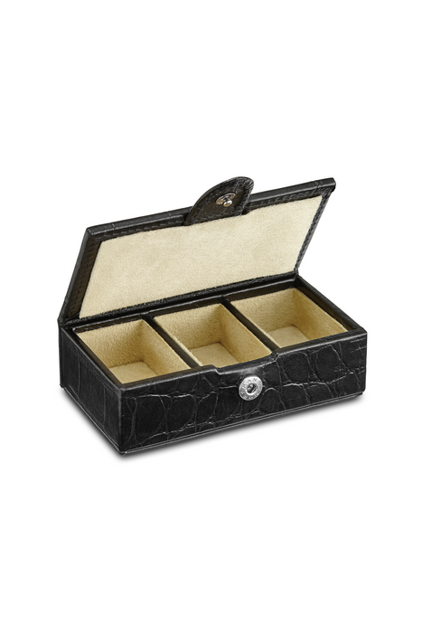 Small Leather Cufflink Box
