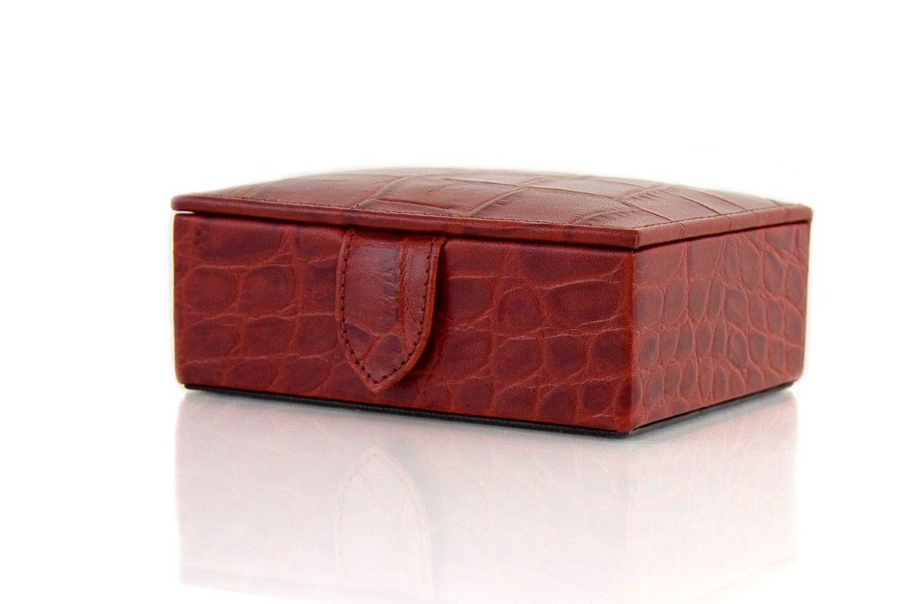 Small Croc Leather Box - Sale