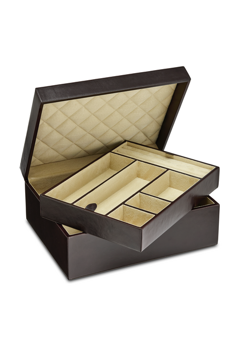 Large Luxury Leather Jewellery Box