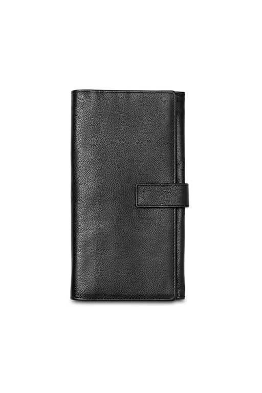 Leather Travel Wallet with Tab Closure