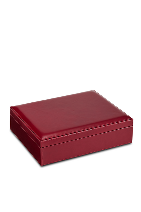 Leather Jewellery Box with Lift Out Tray