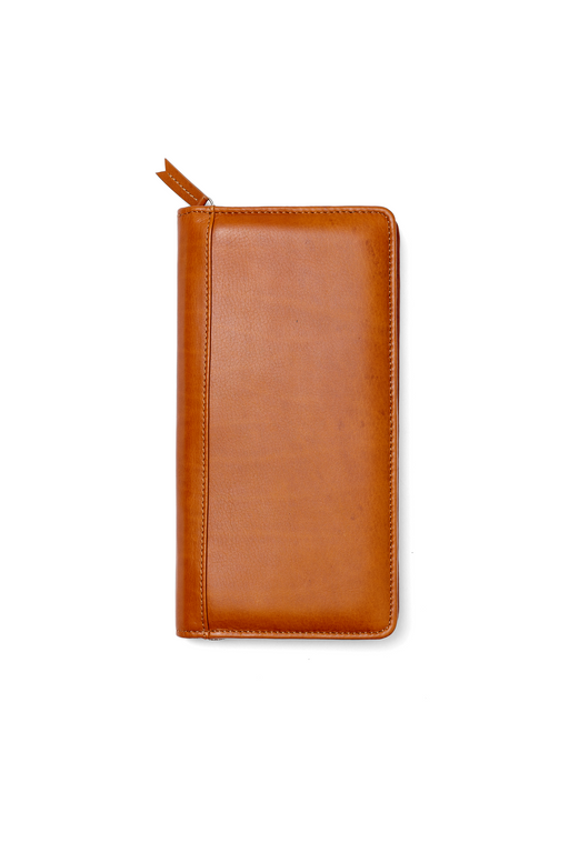 Leather Zip Around Travel Wallet