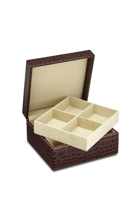 Square Leather Jewellery Box