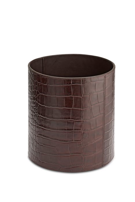 Leather Rubbish Bin