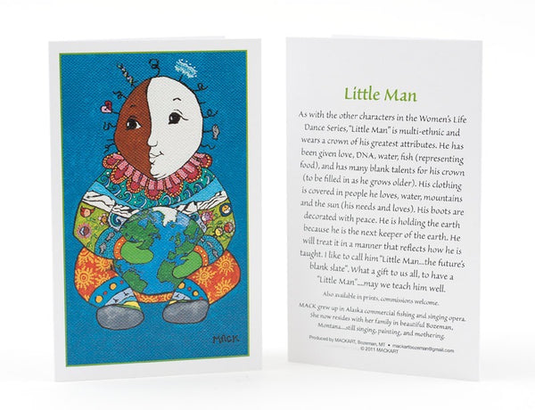Little Man Ornament/Card combo