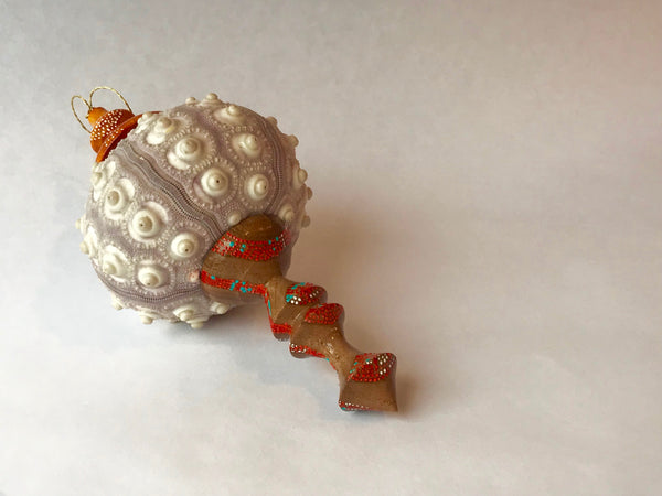 MACK/Tode Sea Urchin ornaments - warm coral