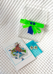 Best Friend Earrings and Card Combo