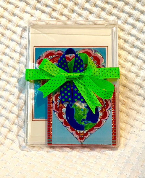 Lover/Protector of Nature Ornament (hand painted) and Card Combination