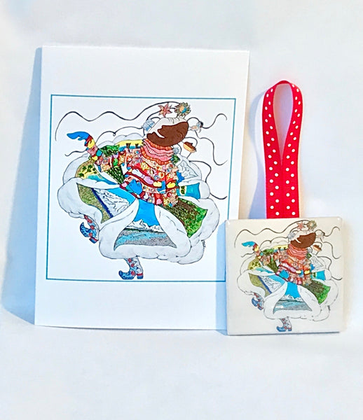 Best Friend: Ornament (Ceramic tile) and Card Combination