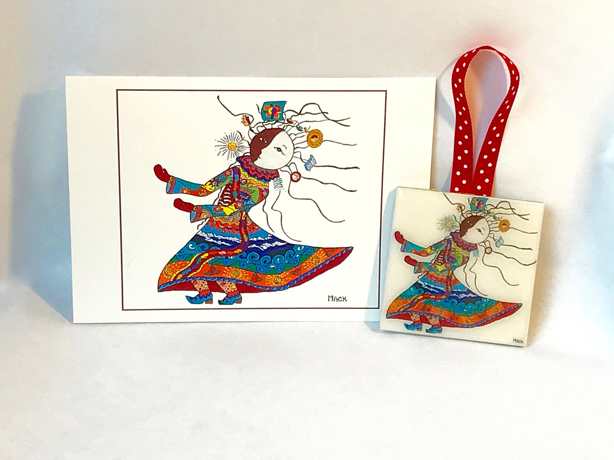Carrier of Life's Burdens Ceramic Ornament and Card Combination