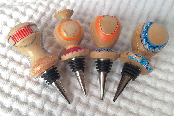 MACK/Tode Bottle Stoppers - Striped Dots