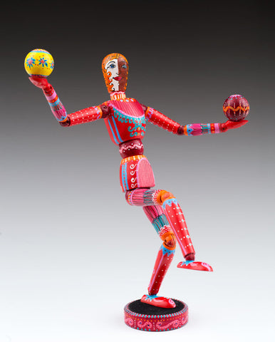 SOLD - Juggler Wooden Doll