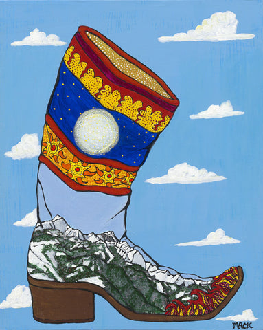 Spanish Boot: Unframed Giclée Print
