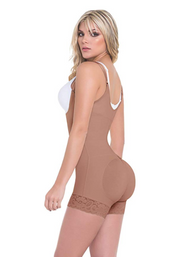 OPEN-BUST MID-THIGH BODYSUIT COMPRESSION FAJA (STAGE 1)
