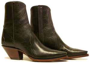 All Calfskin Handmade Ankle Boots