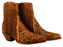 Load image into Gallery viewer, (TEMP) Hand Tooled Ankle Boots