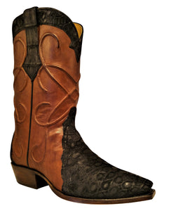 Genuine American Sueded Alligator With Thick Cording Handmade Boots