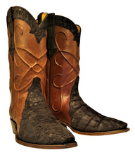 Load image into Gallery viewer, Genuine American Sueded Alligator With Thick Cording Handmade Boots