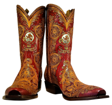 Load image into Gallery viewer, Fully Hand Carved / Tooled Custom Handmade Boots