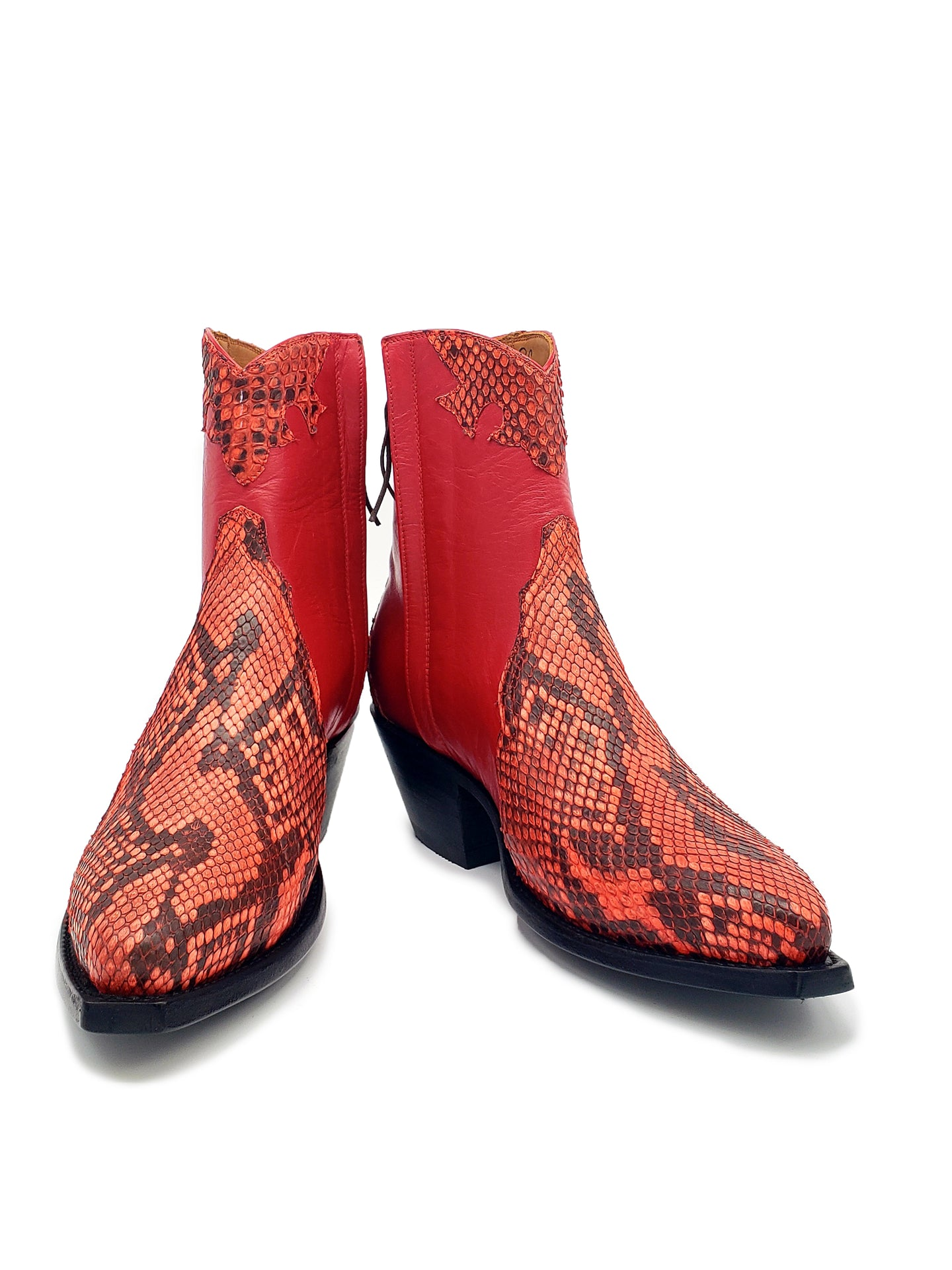 Ready To Wear Genuine Burmese Python & Kidd Ankle Boots with an X5/8