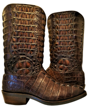 Load image into Gallery viewer, Full Genuine American Alligator Hornback Boots