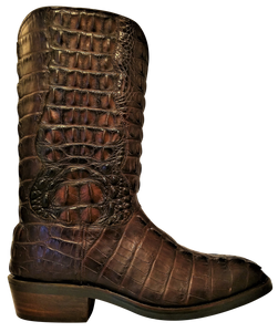 Full Genuine American Alligator Hornback Boots