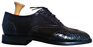 Genuine American Alligator & Italian Shell Cordovan Wingtip Oxfords
