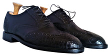 Load image into Gallery viewer, Genuine American Alligator & Italian Shell Cordovan Wingtip Oxfords