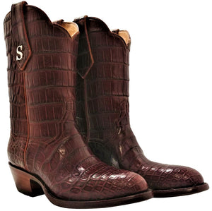 Traditional Full Genuine American Alligator Belly Handmade Boots