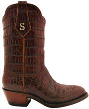 Load image into Gallery viewer, Traditional Full Genuine American Alligator Belly Handmade Boots