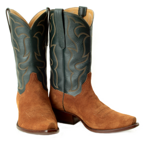 """The Ranch Hand "" Genuine Suede & Calf Top Boots"