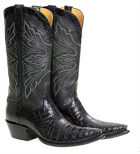 Genuine American Alligator Belly Handmade Boots