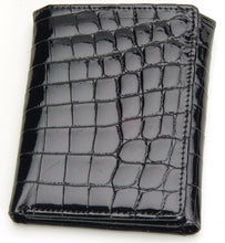 Load image into Gallery viewer, Genuine American Alligator and Genuine South African Full Quill Ostrich Wallets