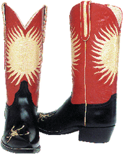 "Load image into Gallery viewer, ""The Desert Crawler"" Genuine Calfskin w/ Kidd Skin Inlay Handmade Boots"