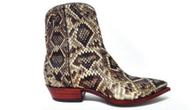 Load image into Gallery viewer, Genuine Diamondback Rattlesnake Handmade Ankle Boots