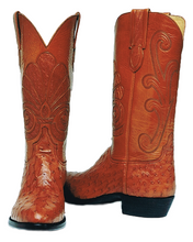 Load image into Gallery viewer, Genuine South African Full Quill Ostrich w/ Ostrich Inlay Handmade Boots