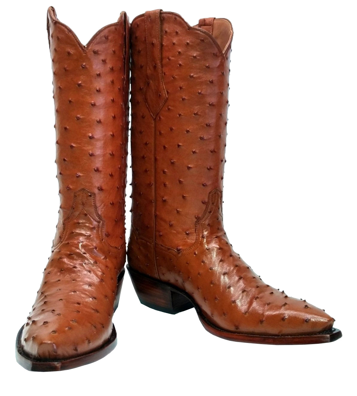 Genuine South African Full Quill, Full Ostrich Handmade Boots