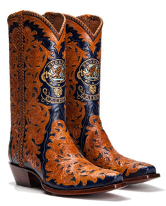 Fully Hand Carved / Tooled Custom Handmade Boots