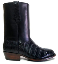 "Load image into Gallery viewer, ""Hamilton"" Genuine American Alligator & Calfskin Handmade Boots"