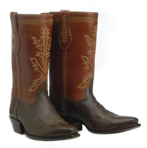 """The Maverick"" Genuine Deer Hide & Calfskin Handmade Boots"