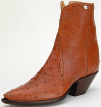 "Load image into Gallery viewer, ""Patrona"" Genuine South African Full Quill Ostrich Handmade Ankle Boot"