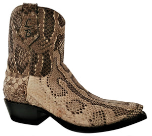 Genuine Burmese Python Belly Cut Shorty Handmade Boots