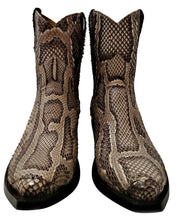 Load image into Gallery viewer, Genuine Burmese Python Belly Cut Shorty Handmade Boots