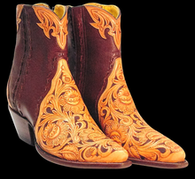 Load image into Gallery viewer, (TEMP) Tooled Barron Ankle Boots